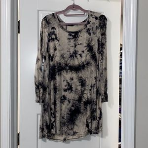 Jodifl black and white tie dye tunic/dress